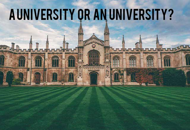 a university or an university?